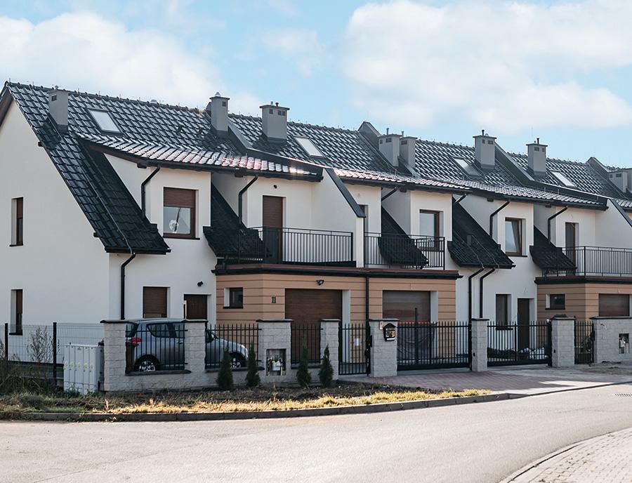 gotowe domy z keramzytu w zabudowie szeregowej