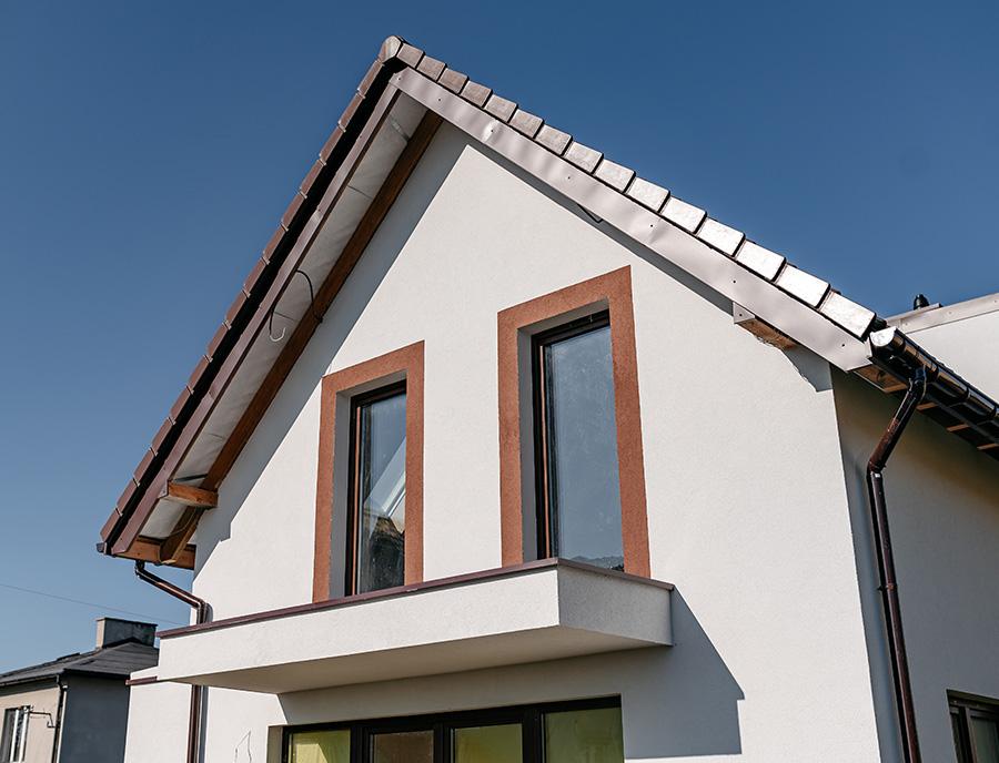 balkon w domu z prefabrykatów keramzytowych