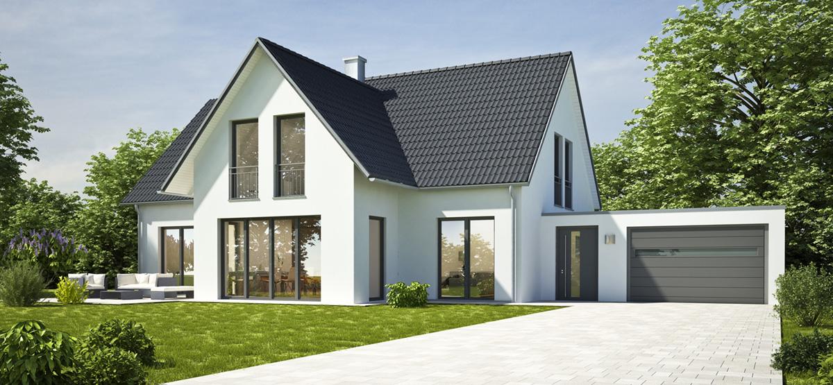 dom jednorodzinny wybudowany z prefabrykatów keramzytowych